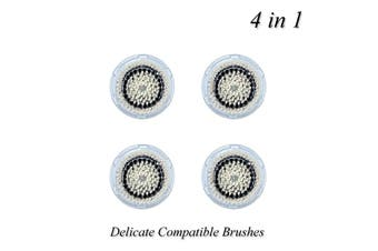 Facial Clarisonic Compatible Brushes - 4 Heads for Delicate Skin