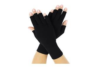 Compression Arthritis Gloves, Black