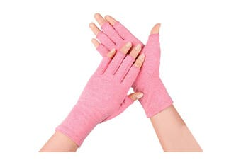 Compression Arthritis Gloves, Pink
