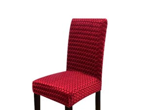 Stretch Dining Chair Covers - Wine Red, 2pcs