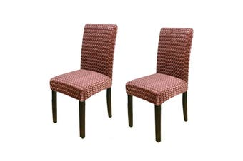 Stretch Dining Chair Covers - Coffee, 2pcs