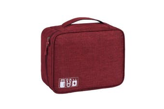 Charging Cable Travel Organiser - Wine Red