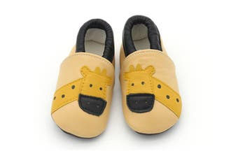 Infant Toddler Baby Soft Sole Leather Shoes for Girls Boys Walking - Giraffe