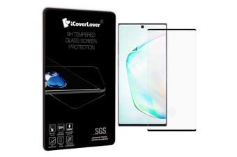 For Samsung Galaxy Note 10+ Plus Black Screen Protector Full 3D Tempered Glass