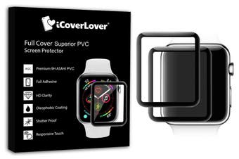 For Apple Watch 44mm,3D Full Screen Tempered Glass Screen Protector,iCoverLover