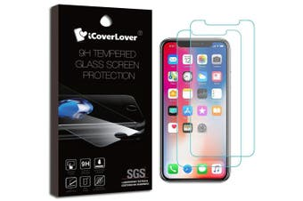 Transparent 2-Pack For iPhone 11 Pro MAX,XS MAX Tempered Glass Screen Protector