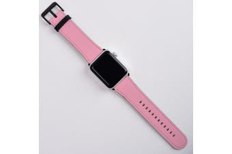 For Apple Watch Band (38mm) Series 1, 2, 3 & 4 Vegan Leather Strap, iWatch Pink