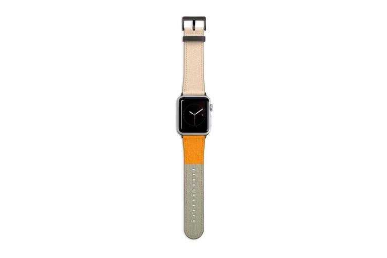 For Apple Watch Band 40mm/38mm PU Leather Black Lugs  Sundown