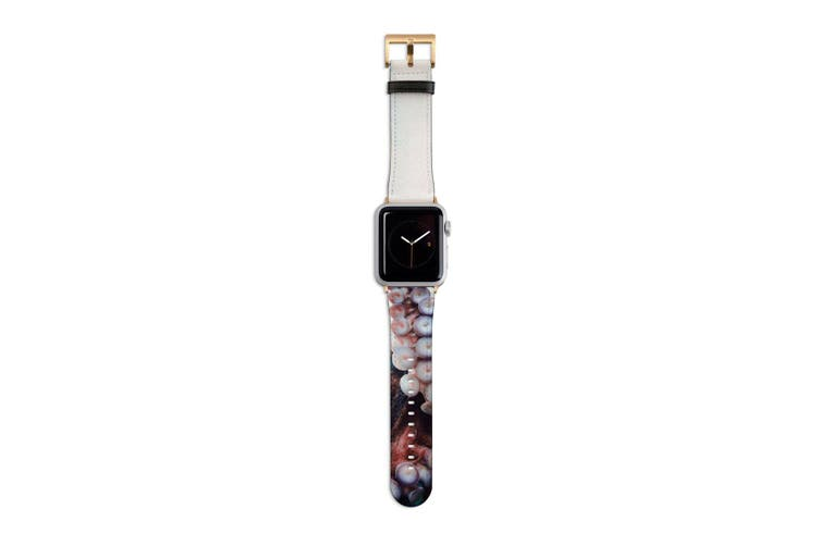 For Apple Watch Band 40mm/38mm PU Leather Gold Lugs  Octopus Tentacle