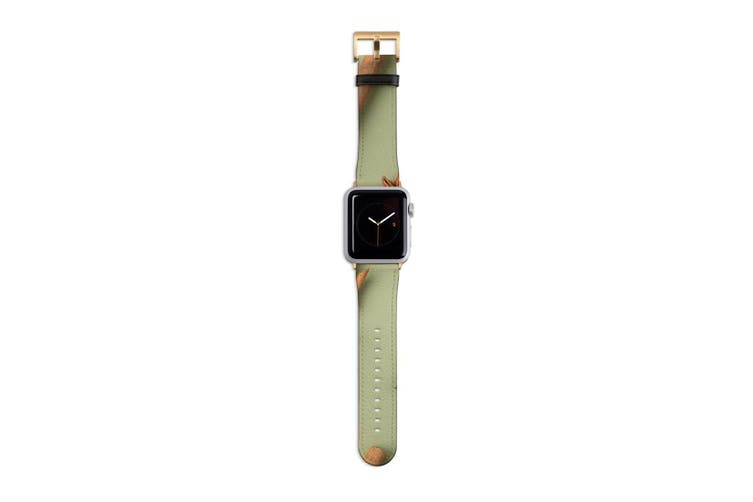 For Apple Watch Band 40mm/38mm PU Leather Gold Lugs  Star Anise & Cinnamon