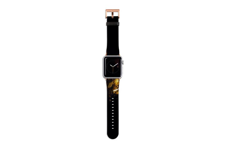 For Apple Watch Band 40mm/38mm PU Leather Rose Gold Lugs  Autumn Colors Makeup