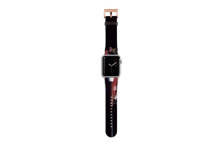 For Apple Watch Band 40mm/38mm PU Leather Rose Gold Lugs  Beauty Products Makeup