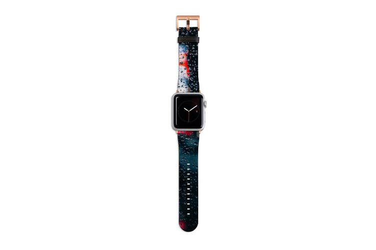 For Apple Watch Band 40mm/38mm PU Leather Rose Gold Lugs  City Lights