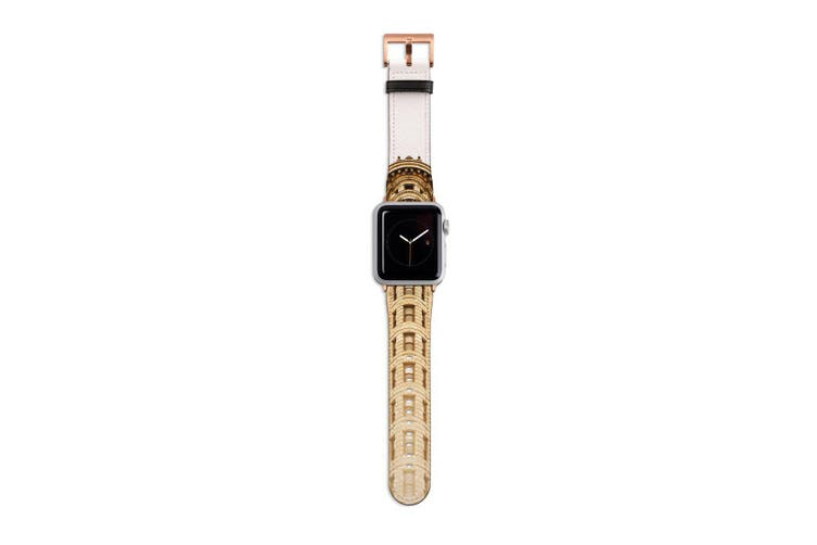 For Apple Watch Band 40mm/38mm PU Leather Rose Gold Lugs  Flatiron Building