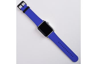 For Apple Watch Band (42mm) Series 1, 2, 3 & 4 Vegan Leather Strap iWatch Blue