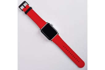 For Apple Watch Band (42mm) Series 1, 2, 3 & 4 Vegan Leather Strap iWatch Red