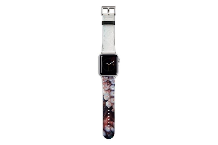 For Apple Watch Band 44mm/42mm PU Leather Silver Lugs  Octopus Tentacle