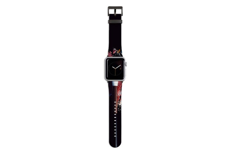 For Apple Watch Band 44mm/42mm PU Leather Black Lugs  Beauty Products Makeup