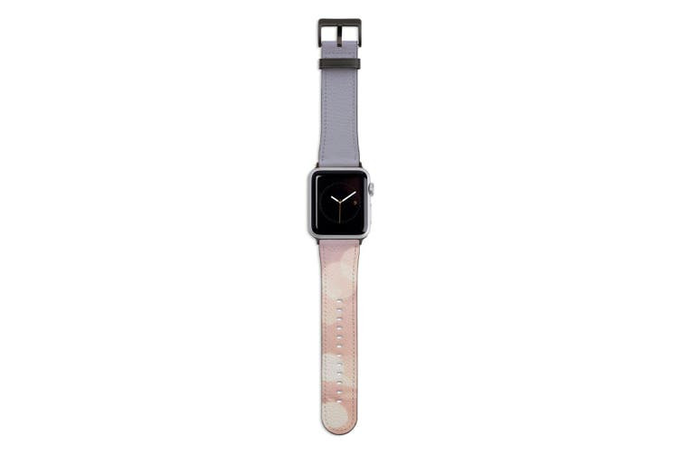 For Apple Watch Band 44mm/42mm PU Leather Black Lugs  Fireflies