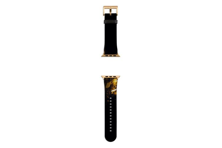 For Apple Watch Band 44mm/42mm PU Leather Gold Lugs  Autumn Colors Makeup