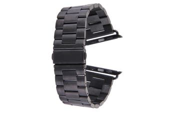 Black For Apple Watch (38mm) Butterfly Stainless Steel Watch Strap