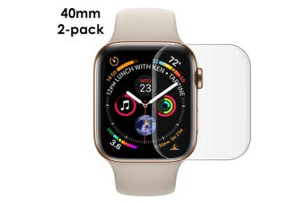For Apple Watch 5/4 (40mm) Curved PET Screen Protector, 2-pack