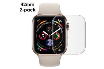 For Apple Watch 3/2/1 (42mm) Curved PET Screen Protector, 2-pack
