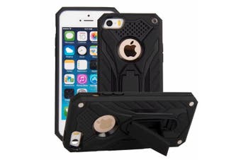 For iPhone SE (1st gen),5s & 5 Case,Armour Kickstand Cover,Black