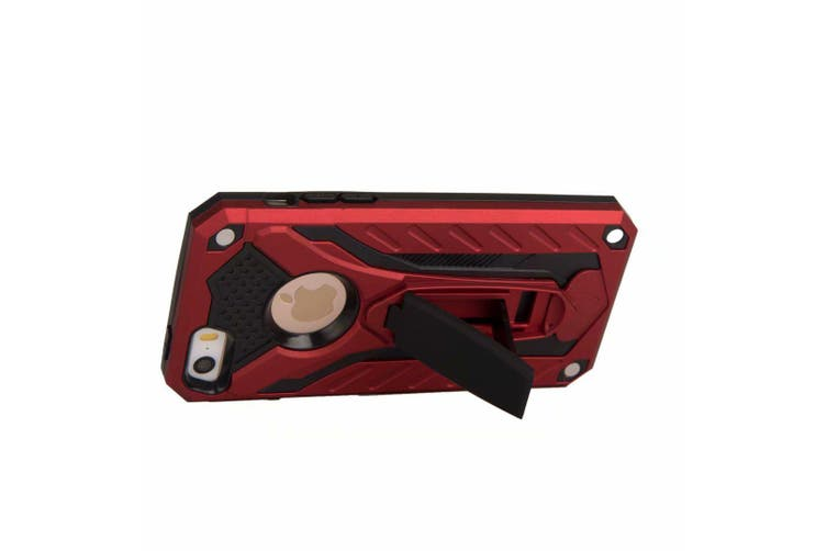For iPhone SE (1st gen),5s & 5 Case,Armour Cover Kickstand,Red