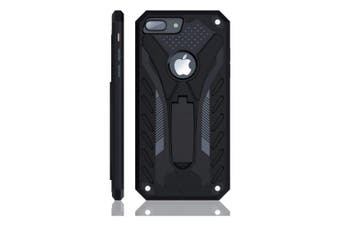 For iPhone 7 PLUS Case  Armour Strong Shockproof Tough Cover Kickstand Black