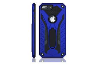 For iPhone 7 PLUS Case  Armour Strong Shockproof Tough Cover with Kickstand Blue