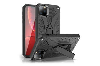 For iPhone 11 Pro Max Case, Armour Strong Shockproof Cover Kickstand, Black