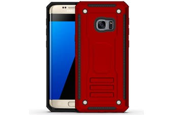 For Samsung Galaxy S7 EDGE Case  Armour Strong Shockproof Thin Tough Cover  Red