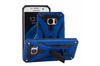 For Samsung Galaxy S7 EDGE Case  Armour Strong Shockproof Cover Kickstand  Blue