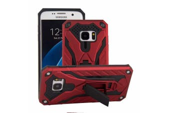 For Samsung Galaxy S7 EDGE Case  Armour Strong Shockproof Cover Kickstand  Red