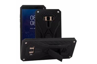 For Samsung Galaxy S8 Case Armour Strong Shockproof Tough Cover Kickstand  Black