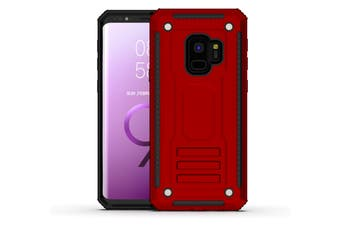 For Samsung Galaxy S9 Case, Armour Strong Shockproof Thin Tough Cover, Red