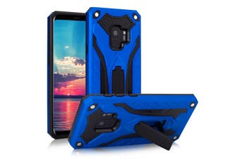 For Samsung Galaxy S9 Case, Armour Strong Shockproof Tough Cover Kickstand, Blue