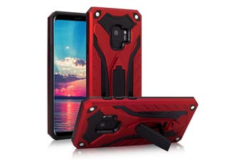 For Samsung Galaxy S9 Case  Armour Strong Shockproof Tough Cover Kickstand  Red