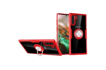 For Samsung Galaxy Note 10 Case Red Armour Ring Holder Protective Back Shell