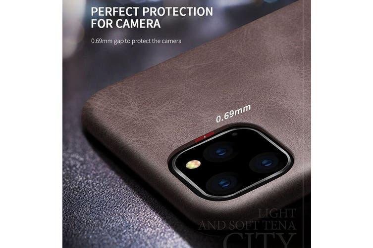 For iPhone 11 Pro X-level Vintage Series Cowboy Texture Flexible Leather Case, Black
