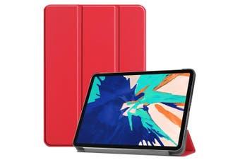 For iPad Pro 12.9in (2020) Smart Karst Holster 3-Fold Holder, Scarlet