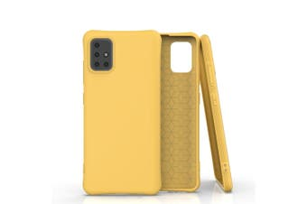For Samsung Galaxy A51 Case Solid Color TPU Slim Protective Cover, Yellow