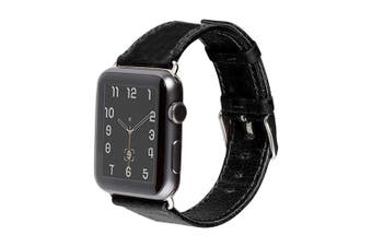 40mm,38mm for Apple Watch Series 1,2,3 and 4 Genuine Leather Strap Black