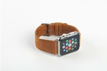40mm,38mm for Apple Watch Series 1,2,3 and 4 Leather Rounded Strap Brown