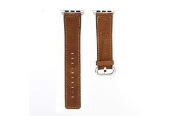 44mm,42mm for Apple Watch Series 1,2,3 and 4 Premium Genuine Leather Strap Brown