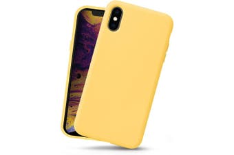 Yellow Soft Protective For iPhone XS & X Silicone Case