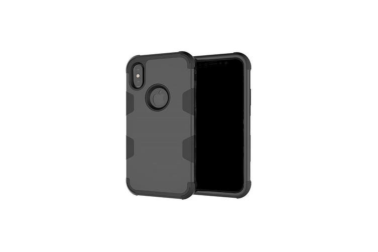 Black 3-Layer Armor For iPhone XS & X Protective Case