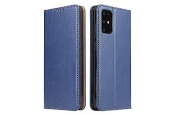 For Samsung Galaxy S20 Case Leather Flip Wallet Folio Cover Blue