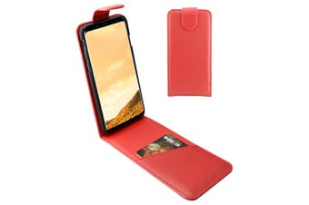 For Samsung Galaxy S8 Case,iCoverLover Vertical Flip Genuine Leather Cover,Red